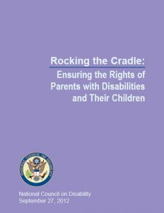 Cover of original publication by the National Council of Disability, United States of America, September 27 2012